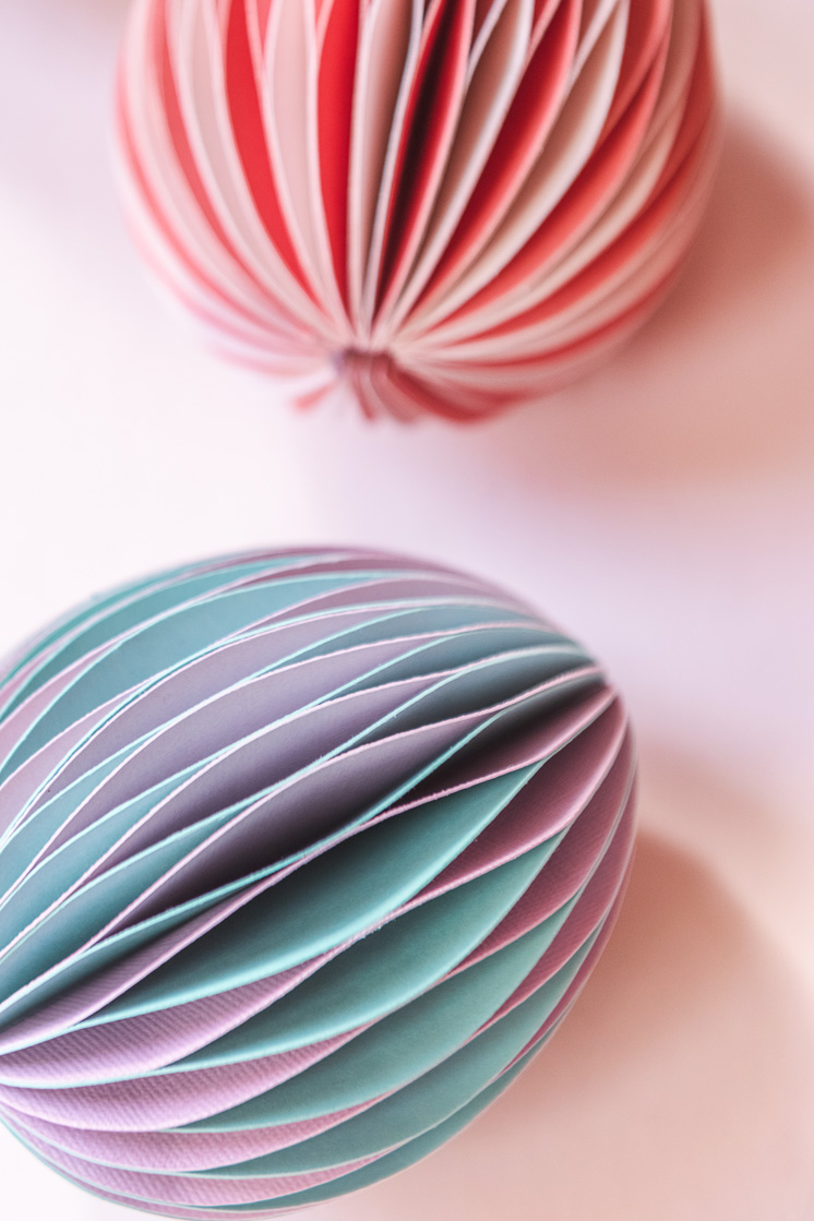 honeycomb Easter eggs on a blush pink background