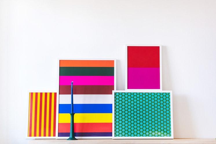 Bold geometric art prints by Abby Low