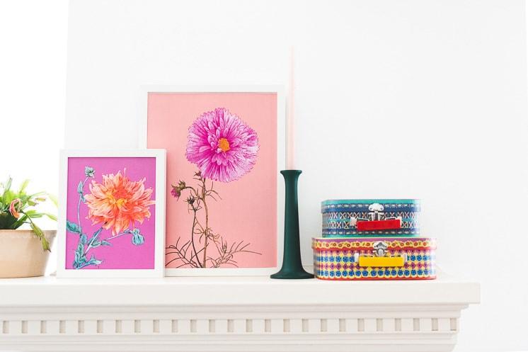Floral art prints by Adriana Picker