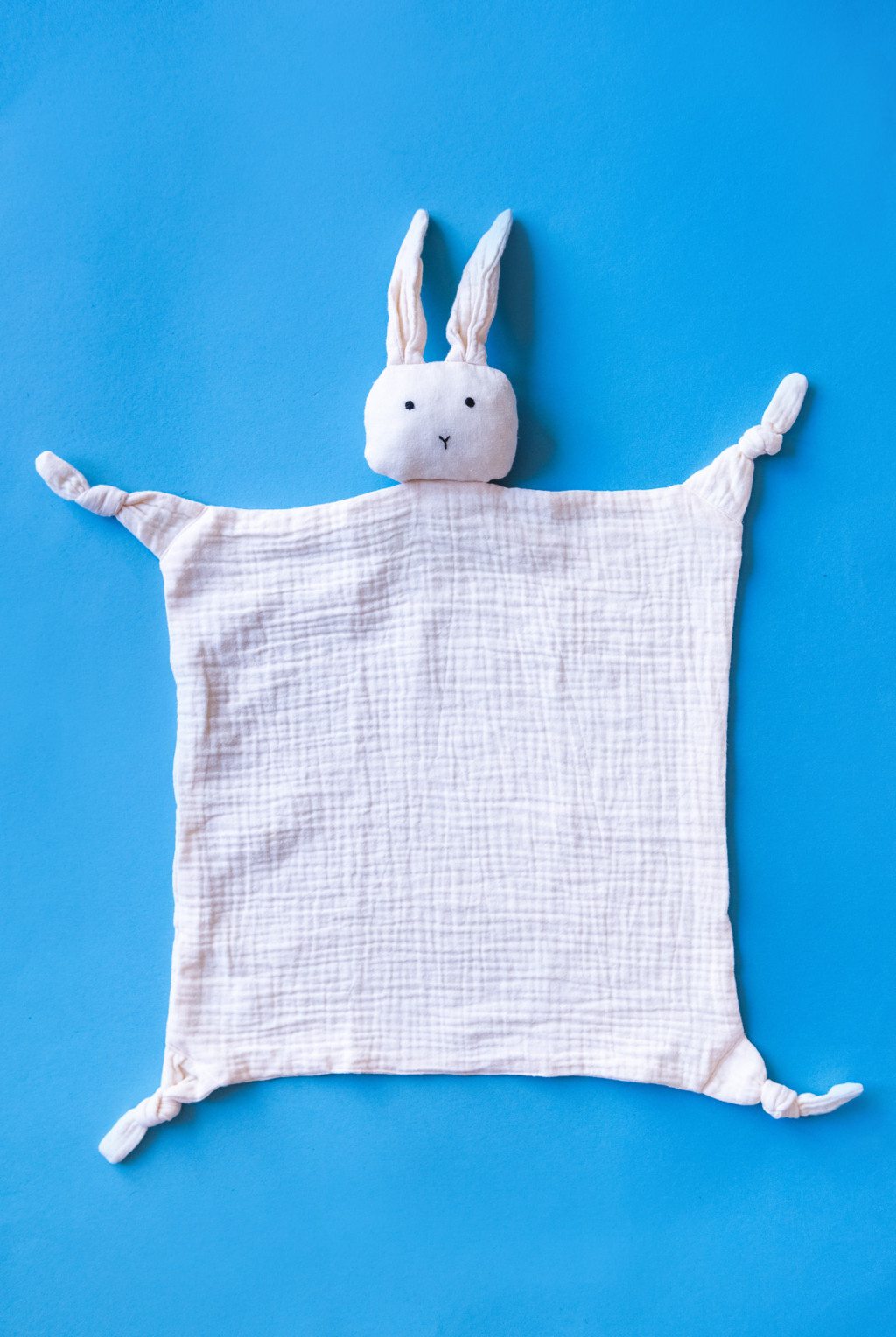 white bunny snuggly