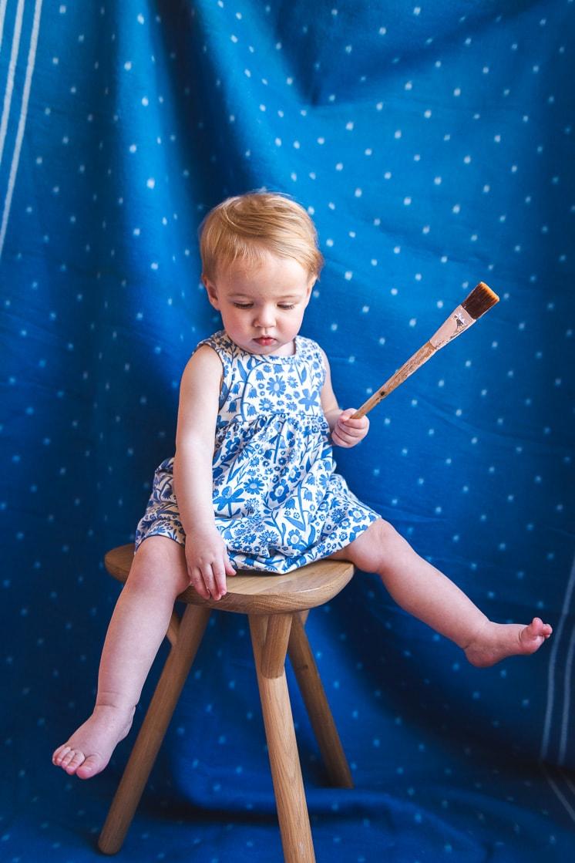 dutch blue floral children's clothing