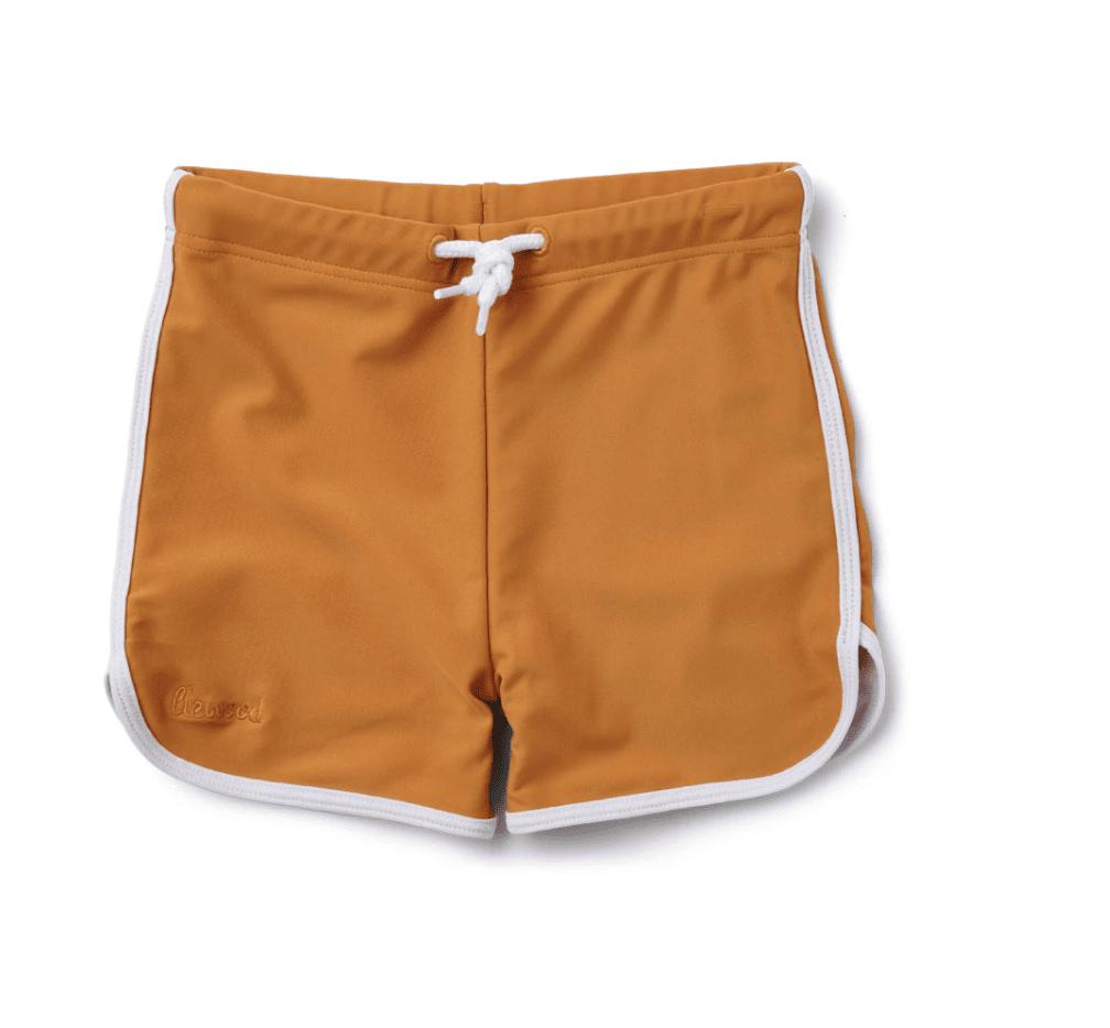 Mustard swim trunks for baby or kids