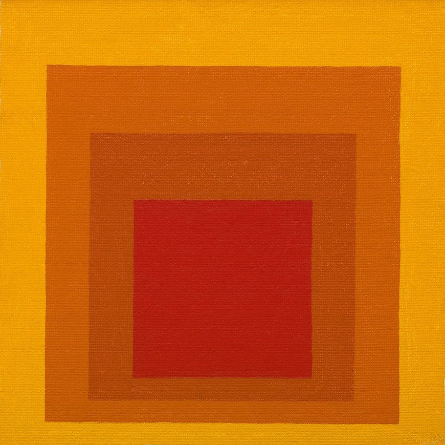 Josef Albers Homage to a Square: concentric red, orange and yellow squares