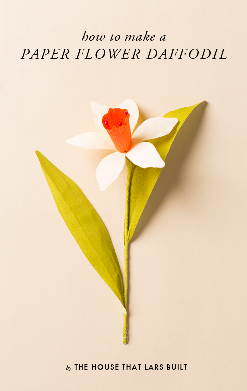 paper daffodil on a cream background