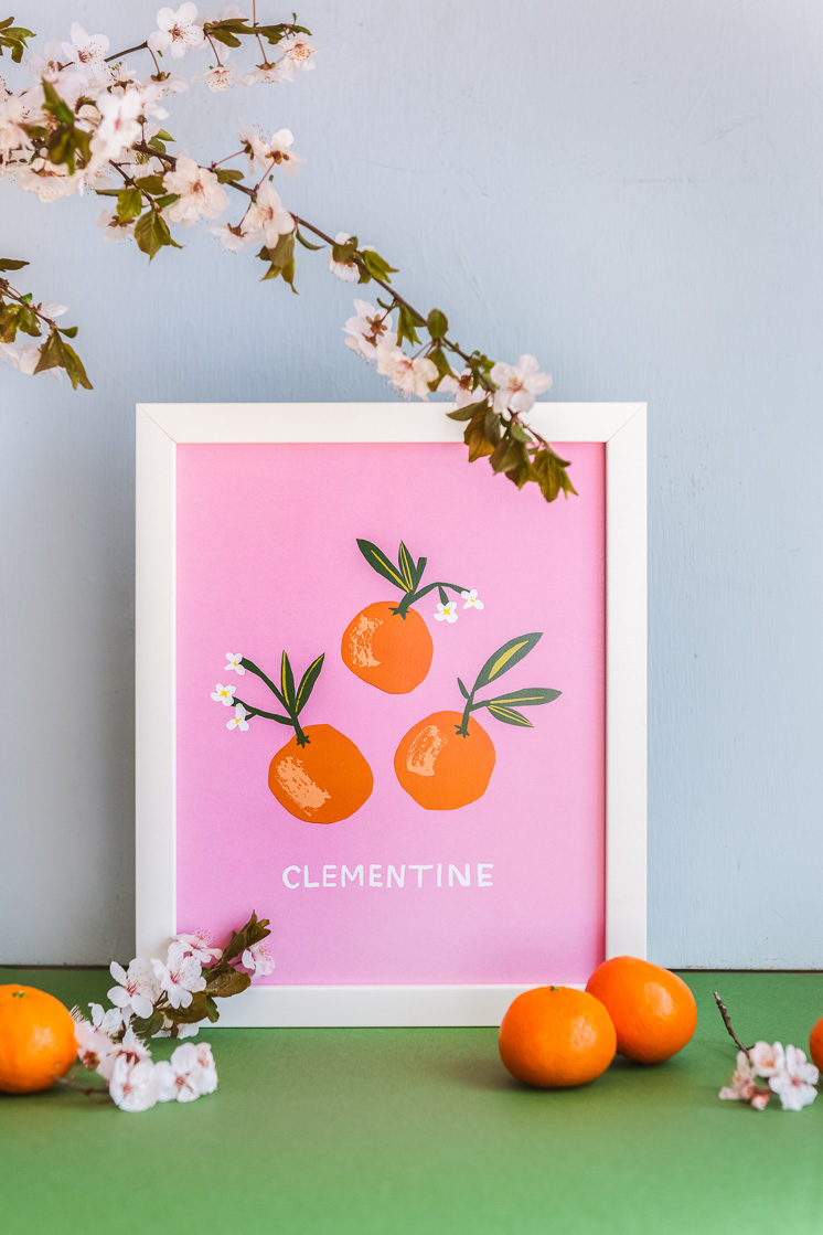 Clementine Print by Danielle Kroll