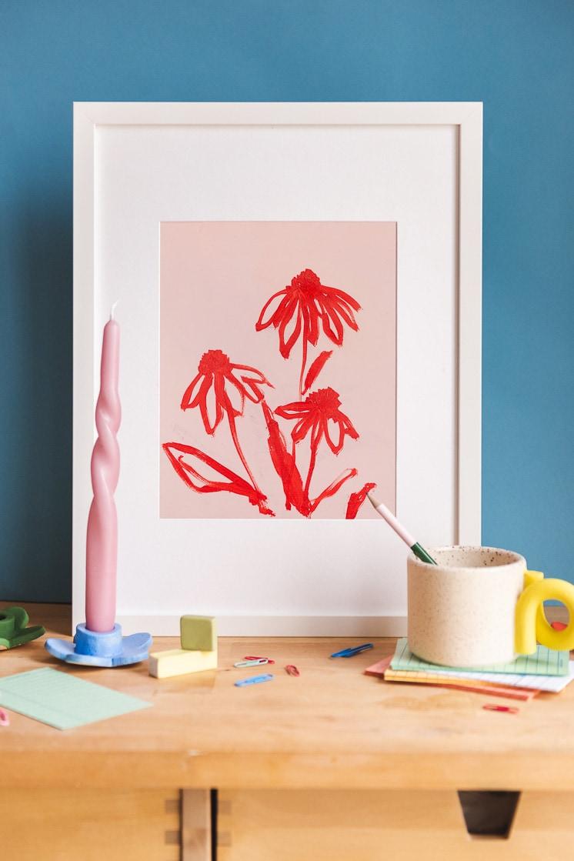 Coneflower ii print by Rachel Smith