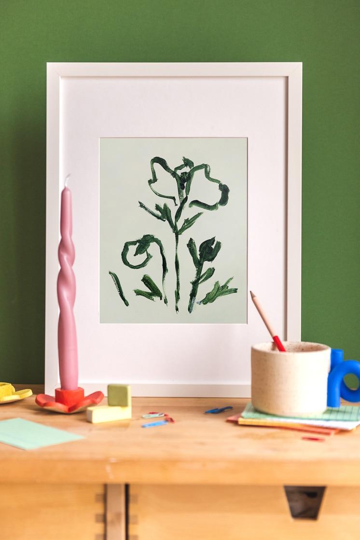 Poppy II print by Rachel Smith