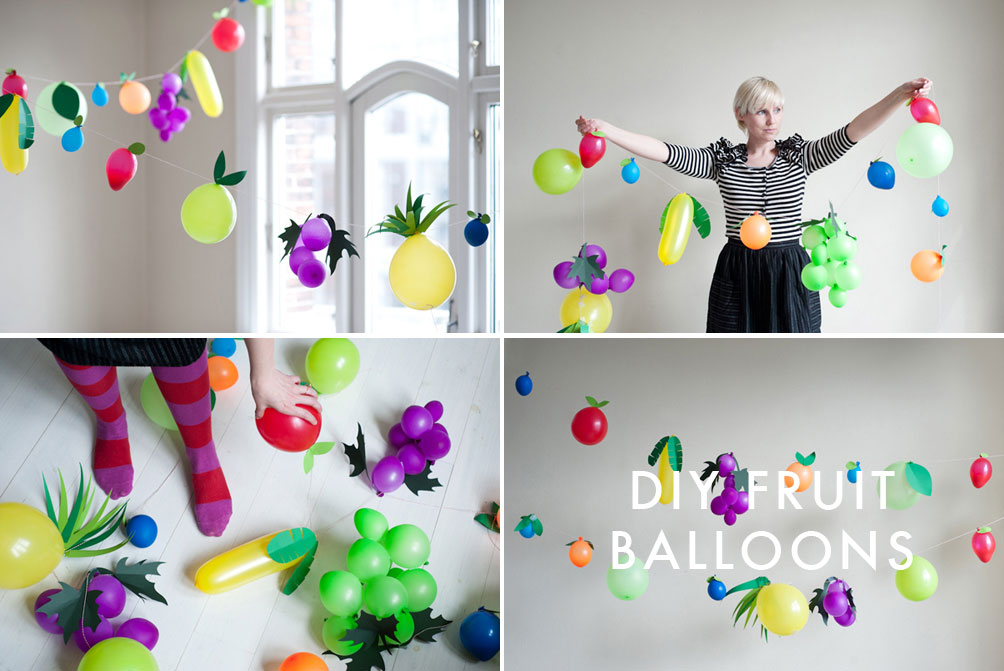 balloons turned into fruits