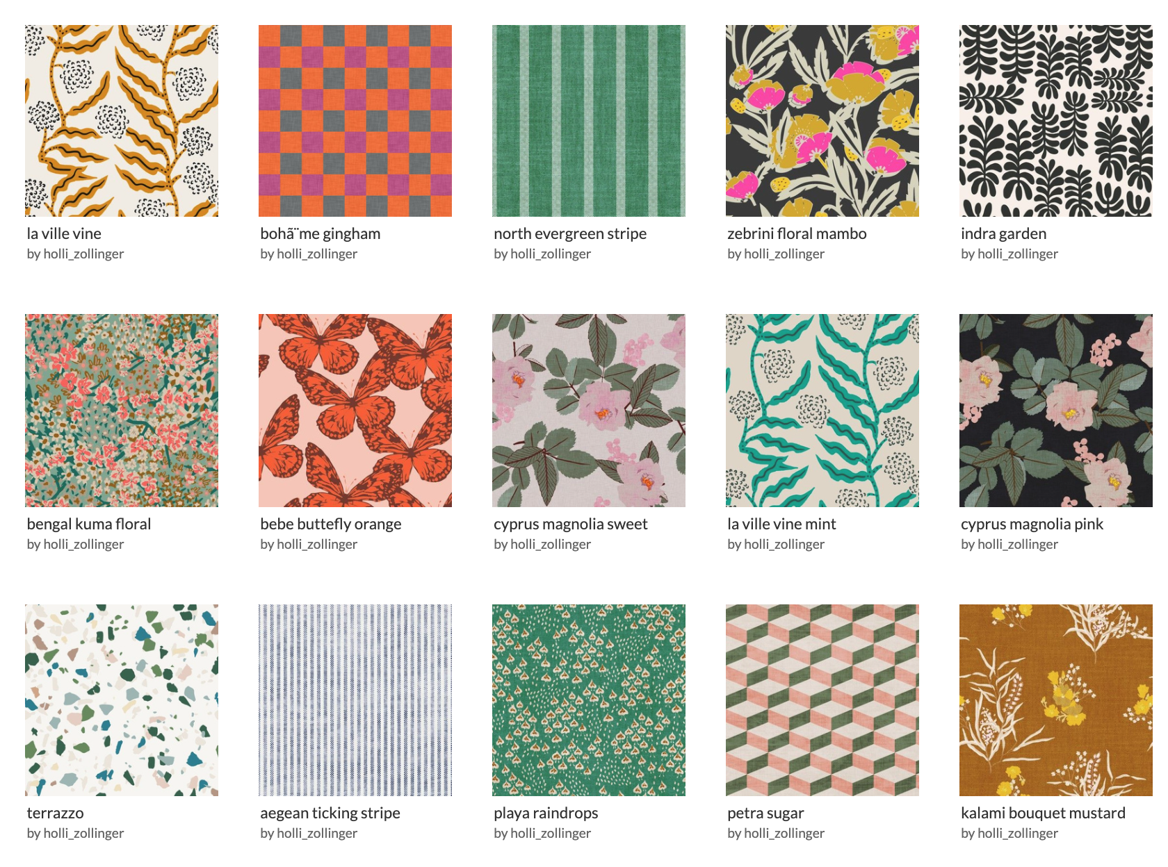 Holli Zollinger fabrics on Spoonflower