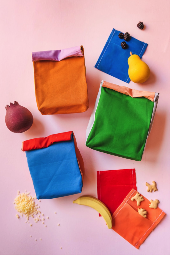 DIY colorful lunch pails