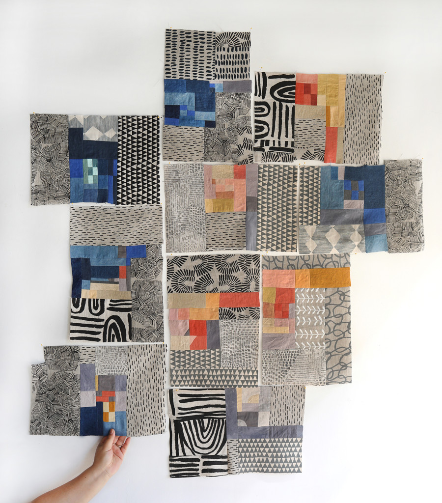 A collection of patchwork blocks made by Arounna Khounnoraj