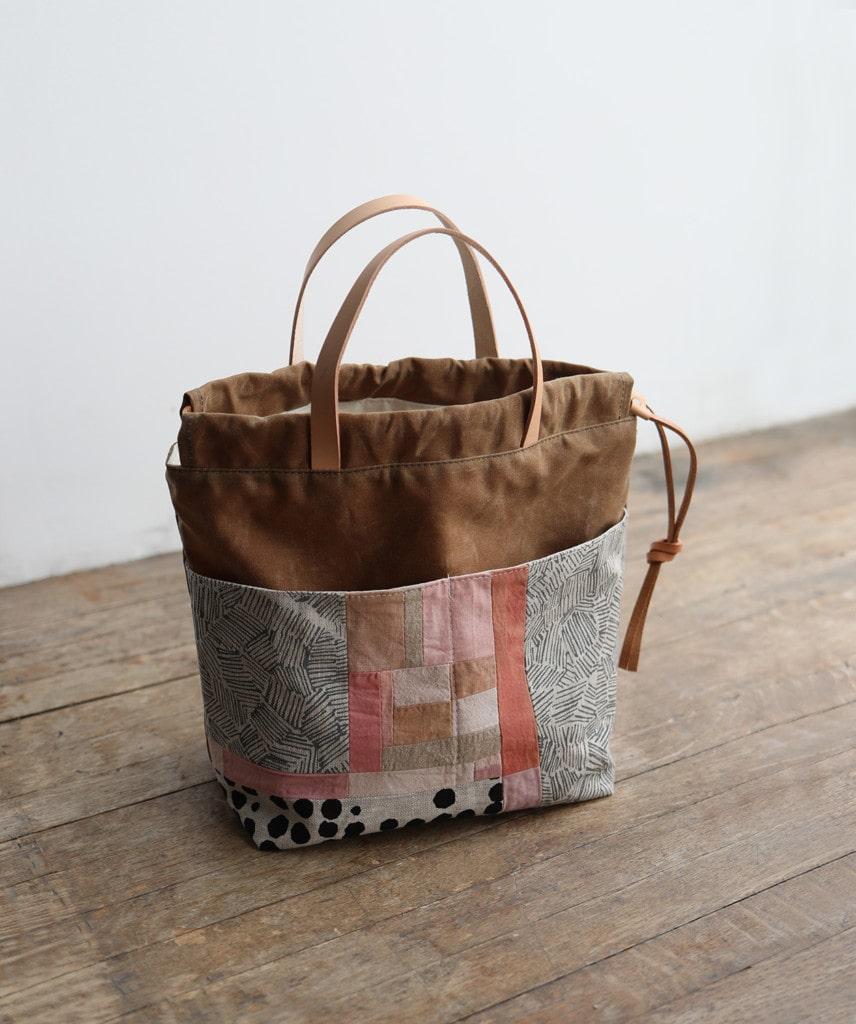 a patchwork project bag made by Arounna Khounnoraj