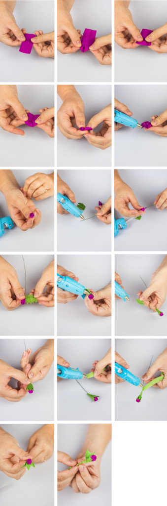 step by step photos of making flower buds