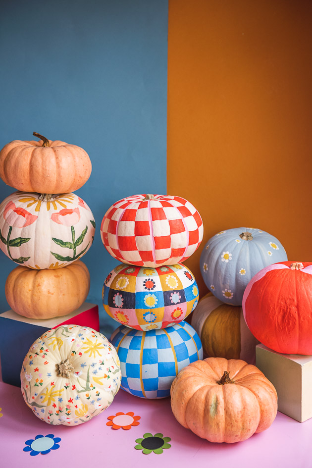 painted pumpkins DIY