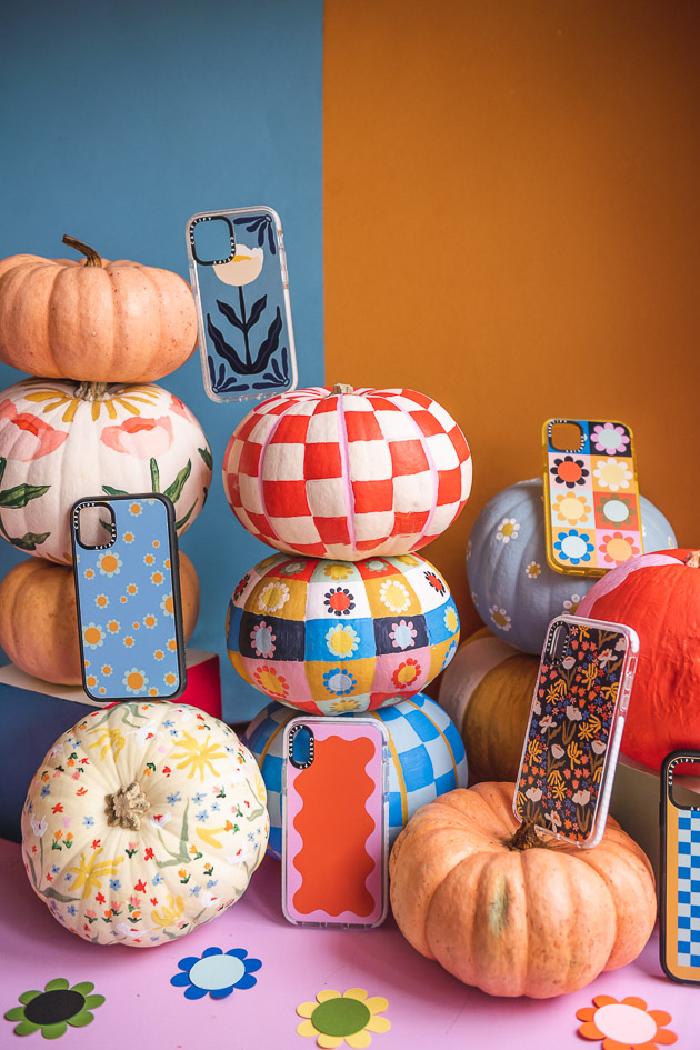 cell phone cases match the painted pumpkins