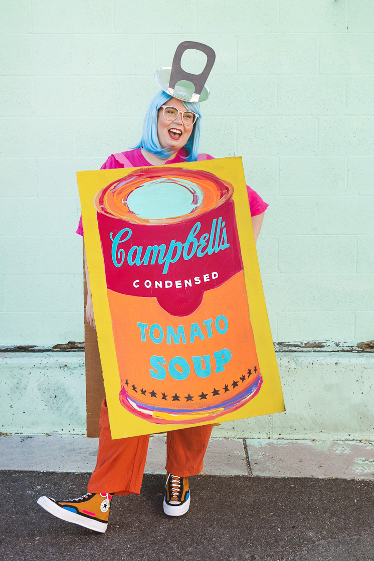 Jane Merrit Link Halloween costume Andy Warhol soup can